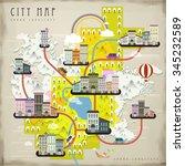 lovely city life landscape in... | Shutterstock .eps vector #345232589