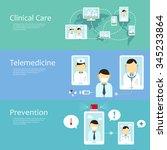 adorable telemedicine concept... | Shutterstock .eps vector #345233864
