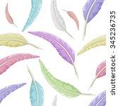 seamless multicolored quill... | Shutterstock . vector #345236735