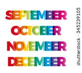 the words september  october ...