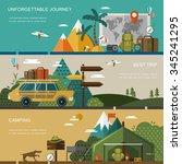 outdoor activity concept banner ...   Shutterstock . vector #345241295