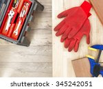 a studio photo of workshop tool ... | Shutterstock . vector #345242051