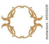premium gold vintage baroque...   Shutterstock .eps vector #345243239