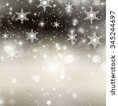 christmas background with... | Shutterstock .eps vector #345244697