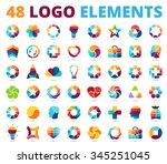 logo templates set. abstract...