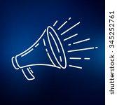 megaphone icon. loudspeaker... | Shutterstock .eps vector #345252761