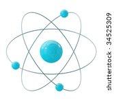 orbital model of atom isolated... | Shutterstock . vector #34525309