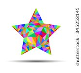 star vector symbol icon simple... | Shutterstock .eps vector #345253145