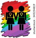 Lesbians With Rainbow...