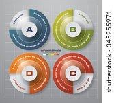 simple editable 4 steps chart... | Shutterstock .eps vector #345255971