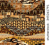 african style patchwork ... | Shutterstock .eps vector #345261791