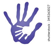 vector concept human or mother... | Shutterstock .eps vector #345263027
