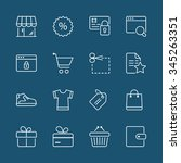 shopping icons set  thin line ... | Shutterstock .eps vector #345263351