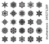 decorative snowflakes.... | Shutterstock .eps vector #345271289