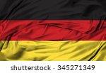 germany flag silk fabric... | Shutterstock . vector #345271349