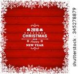 illustration winter snowflakes... | Shutterstock .eps vector #345278879