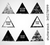 vector triangle shapes... | Shutterstock .eps vector #345278999