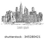 hand drawn city | Shutterstock . vector #345280421