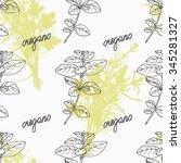 hand drawn oregano branch and...   Shutterstock .eps vector #345281327
