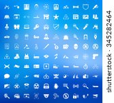 security 100 icons set for web... | Shutterstock .eps vector #345282464