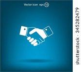 icon of handshake sign. | Shutterstock .eps vector #345282479