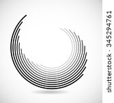 lines in circle form . vector... | Shutterstock .eps vector #345294761