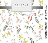vector illustration   vintage... | Shutterstock .eps vector #345296267