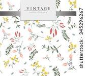 vector illustration   vintage... | Shutterstock .eps vector #345296267