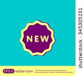 label new sign symbol of the...   Shutterstock .eps vector #345305231