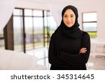 portrait of pretty muslim woman ... | Shutterstock . vector #345314645