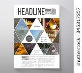 business templates for brochure ... | Shutterstock .eps vector #345317357