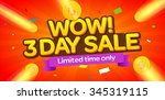 3 day sale banner design.vector ... | Shutterstock .eps vector #345319115