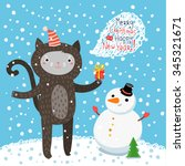 holiday illustration with a... | Shutterstock .eps vector #345321671