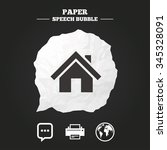 home main page and globe icons. ... | Shutterstock .eps vector #345328091
