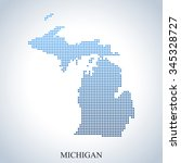 map of michigan | Shutterstock .eps vector #345328727