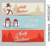 hand draw christmas background... | Shutterstock .eps vector #345332267