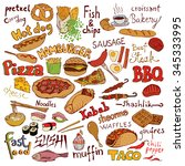 Food Set And Inscriptions...