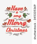 typographical greeting card.... | Shutterstock .eps vector #345335369