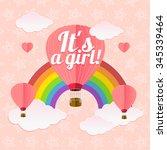 girl card. sign of couple women.... | Shutterstock . vector #345339464
