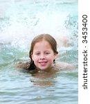 girl swiming in the sea | Shutterstock . vector #3453400