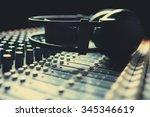 headpnones on soundmixer | Shutterstock . vector #345346619