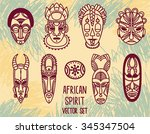 set of traditional african... | Shutterstock .eps vector #345347504