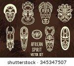 Set Of Tribal African Masks ...