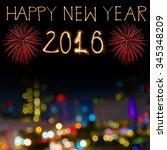 happy new year 2016 written...   Shutterstock . vector #345348209