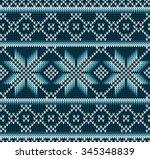 knitted sweater design.... | Shutterstock .eps vector #345348839