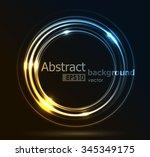 shining futuristic hi tech... | Shutterstock .eps vector #345349175