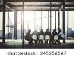 business people meeting... | Shutterstock . vector #345356567