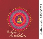 indian wedding invitation card... | Shutterstock .eps vector #345356711