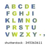 abc abstract geometric... | Shutterstock . vector #345363611