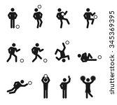 soccer or football man icons...   Shutterstock .eps vector #345369395